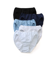Vanity Fair True Comfort 100% Cotton Bikini Panties - 5 Pack 18332