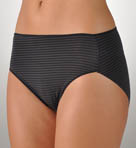 TC Fine Intimates Shadow Stripe Hi-Cut Brief Panties A494