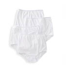 Cotton Full Cut Brief Panties - 4 Pack