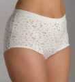 Teri Soft Floral Print Full Cut Brief Panty 6-Pack 130