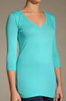 Colette V-Neck 3/4 Sleeve Jersey Tunic