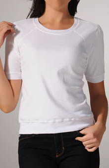 Cotton Knit Half Sleeve Crew Neck Tee