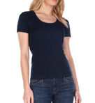 1X1 Short Sleeve Scoop Neck Tee Image