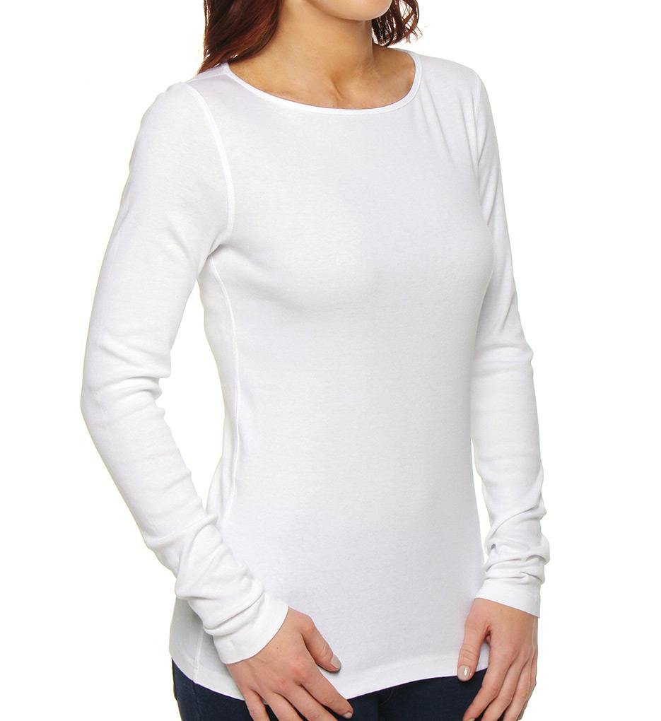 three dots cotton long sleeve british tee aa2148 three