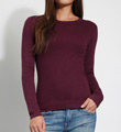 Three Dots 1x1 Long Sleeve Crew Neck Tee AA2C035