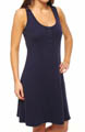 Cotton Knit Henley Tank Dress Image
