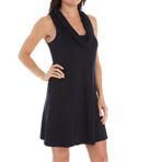 Cotton Cowl Neck Tank Dress Image