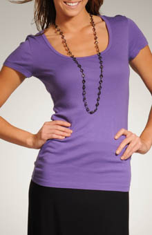 Spring Core Short Sleeve Scoop Neck Tee