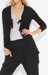 Cotton Modal Long Sleeve Scrunched Front Cardigan