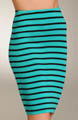 Three Dots Viscose Stripe Pencil Skirt BM338