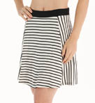 Nautical Ponte Stripe Flared Skirt Image