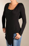 Loose Rayon Jersey Long Sleeve Scoop Neck