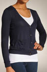 Three Dots Loose Rayon Jersey V-Neck Cardigan DV768