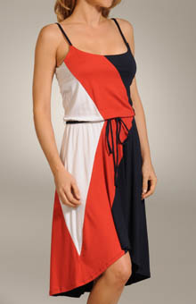 Color Block High-Low Cami Dress