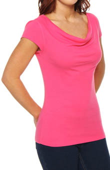 Cap Sleeve Cowl Neck Top