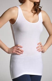 2X1 Viscose Classic Scoop Neck Tank