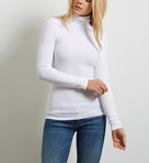 Three Dots 2x1 Viscose Long Sleeve Turtleneck JY2T006
