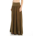 Double Gauze Maxi Skirt with Side Slits Image