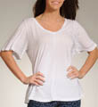 Jersey Colette Half Sleeve Double V-Neck Top Image