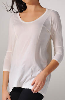 Jersey Colette Classic 3/4 Sleeve U-Neck Top