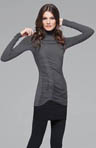 Light Weight Viscose Long Sleeve Mock Neck