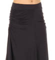 Three Dots Tea Length Skirt  With Side Shirring LD341