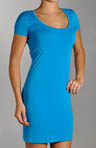 Lightweight Viscose Short Sleeve Scoop Neck Dress