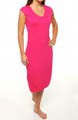 Viscose Nouvelle Cap Sleeve V-Neck Shift Dress Image