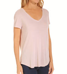 Three Dots Grae Daria Easy Fit Classic V-Neck Tee NAG1000