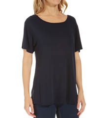 Three Dots Grae Erin Boyfriend Crew Neck Tee NAG1003