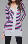 Rayon Multi Stripe DB Cardigan