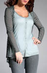 Three Dots Long Sleeve Cardigan with Layered Look PQ2B002