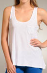 Three Dots Slub Jersey Relaxed High Low Tank SR064