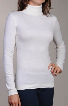 Three Dots ST2T040 Long Sleeve 1X1 Turtleneck