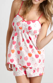 Pink Apples Short and Tank Top Set