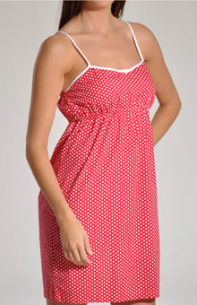 Red and White Dot Chemise