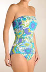 Blue Lagoon Shirred Bandeau 1 pc Swimsuit