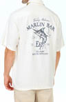 Tommy Bahama Blue Fin Distillery Silk Crosshatch Camp Shirt T35097