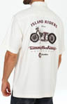 Tommy Bahama Island Moto Embroidered Silk Camp Shirt T35361