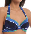 Water Waves Underwire Halter Swim Top Image