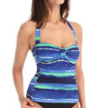 Water Waves Halter Cup Tankini Image
