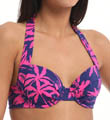 Sugar Shack Underwire Halter Swim Top Image