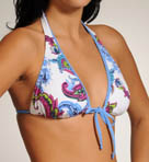 Zaffiro Paisley Halter Bikini Tie Front Swim Top