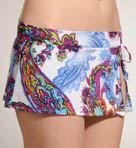 Zaffiro Paisley Skirted Hipster Swim Bottom