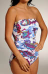 Zaffiro Paisley Shirred One Piece Swimsuit