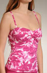 Floral Reef Twist-Front Tankini Swim Top