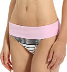 Slanted Stripes Wide Band Hipster Swim Bottom Image