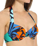 Tropical Leaf Underwire Full Coverage Swim Top Image