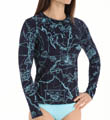 Tommy Bahama Vintage Map Long Sleeve Rash Guard TSW25424C