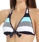 Bold Stripe & Mini Anchor Reversible Swim Top Image